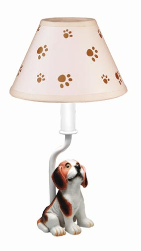 Farm Friends Dog and Paws Lamp