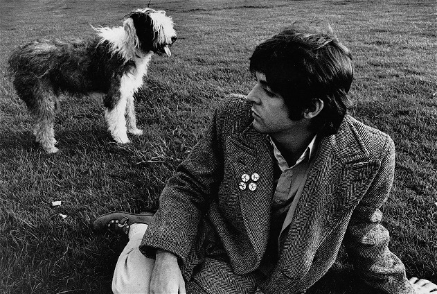 Paul McCartney and his Shetland Sheepdog