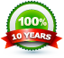 10 Year Satisfaction Guarantee